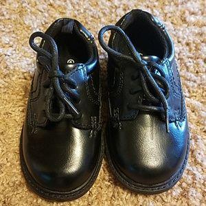 George toddler dress shoes size 6, black